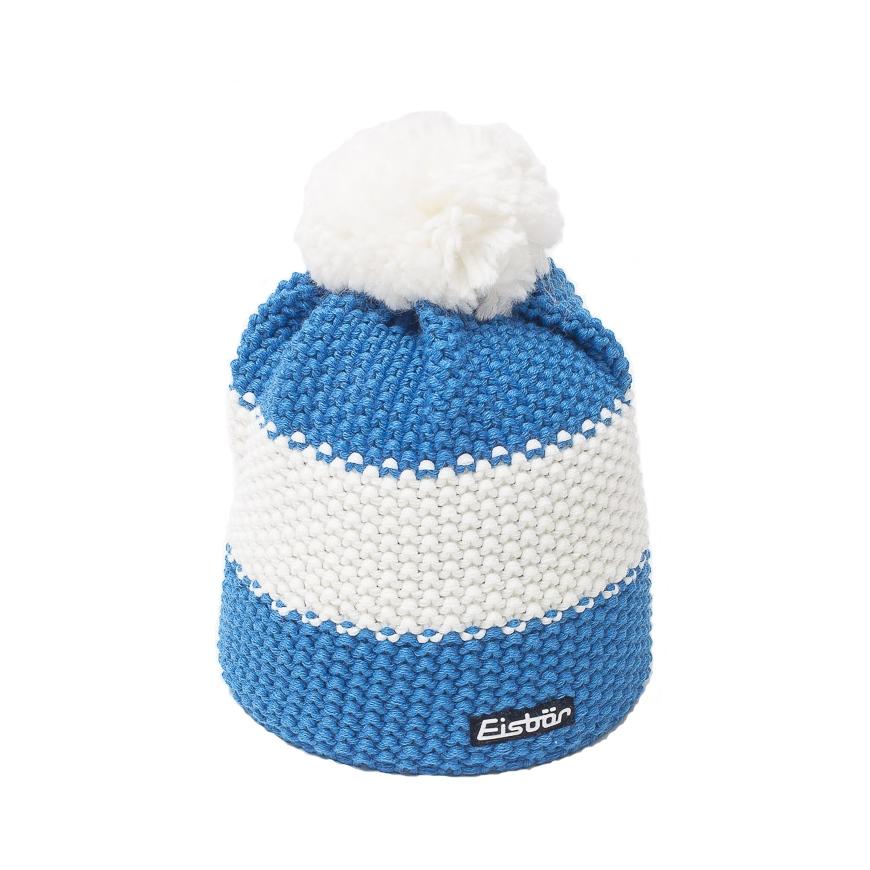 star pompom blue hat eisbar pompom hat ski hat. Black Bedroom Furniture Sets. Home Design Ideas