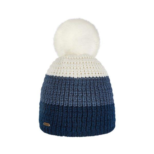 Bonnet ski pompon Brekka cristallo stripe eco pon navy BRFM4003 NVY