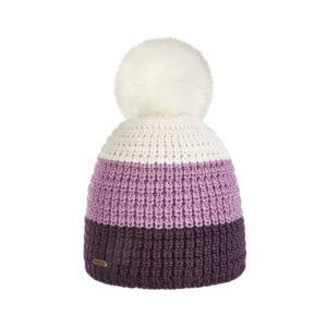Bonnet ski pompon Brekka cristallo stripe eco pon violet BRFM4003 VIO