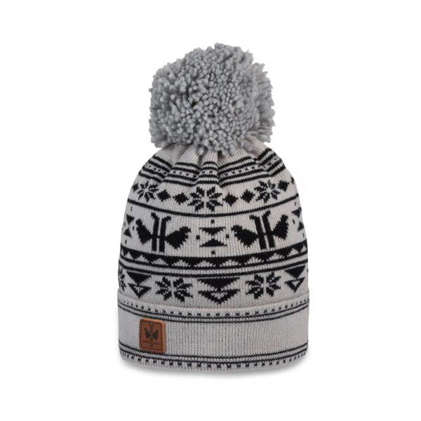 Pipolaki-Adeka-Bonnet Ski Pompon-7035-050-Gris-clair