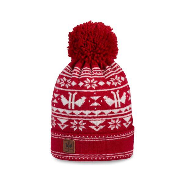 Pipolaki-Adeka-Bonnet Ski Pompon-7035-050-rouge