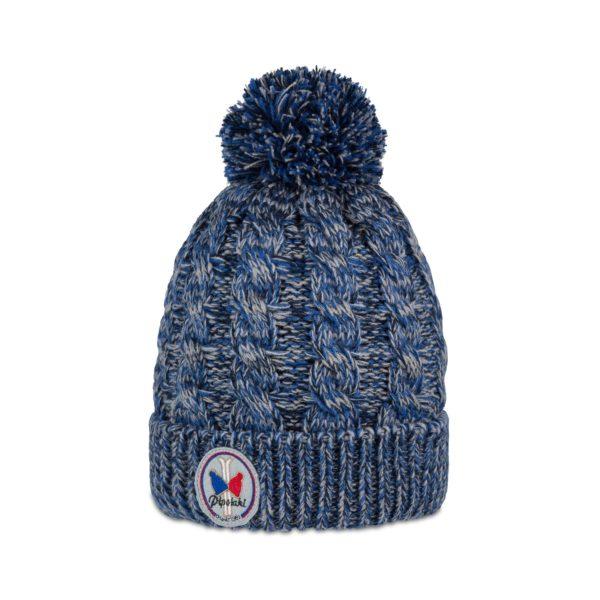 Pipolaki-Gstaad-Bonnet pompon-3834-022-bleu-chiné