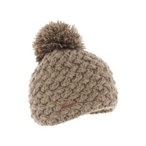 bonnet pompon Herman JUSTIN-8100-TAUPE