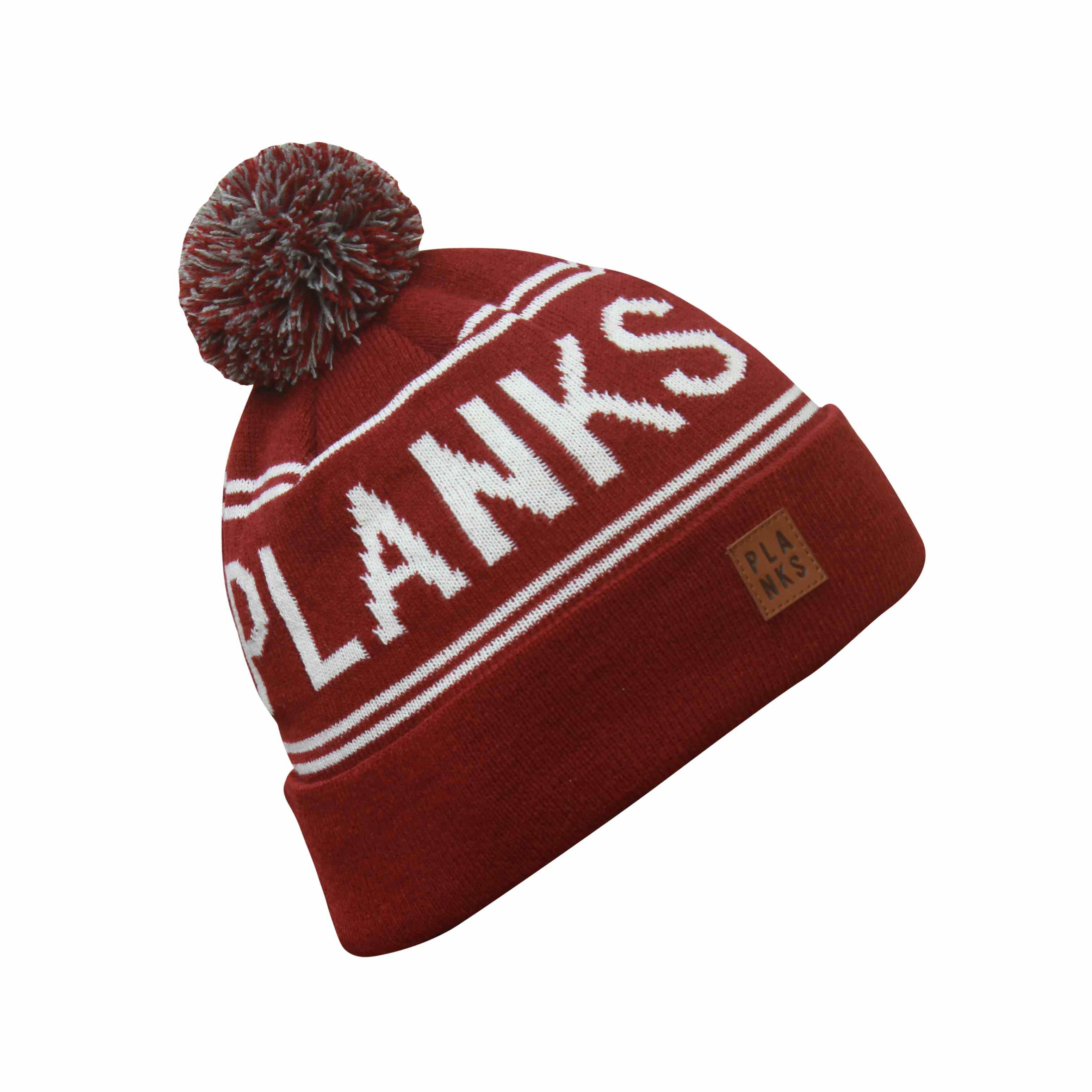 e8c45026833 Brown Classic Pompom Hat Planks - Ski Hat