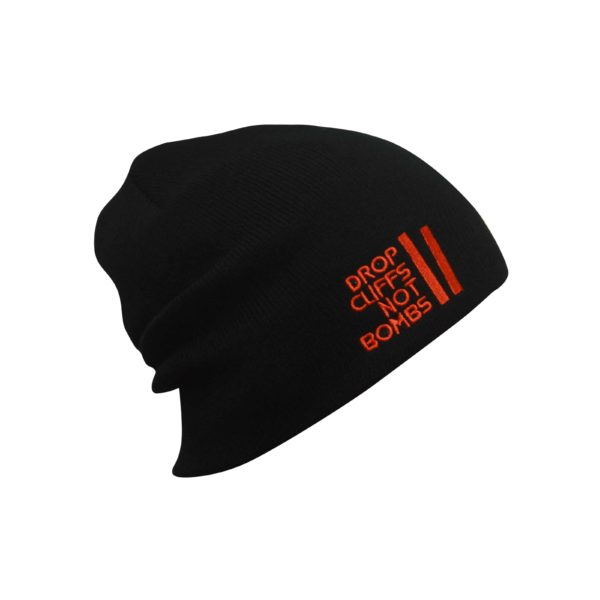 Drop Cliff Original Beanie AH-DROP806 Black Red