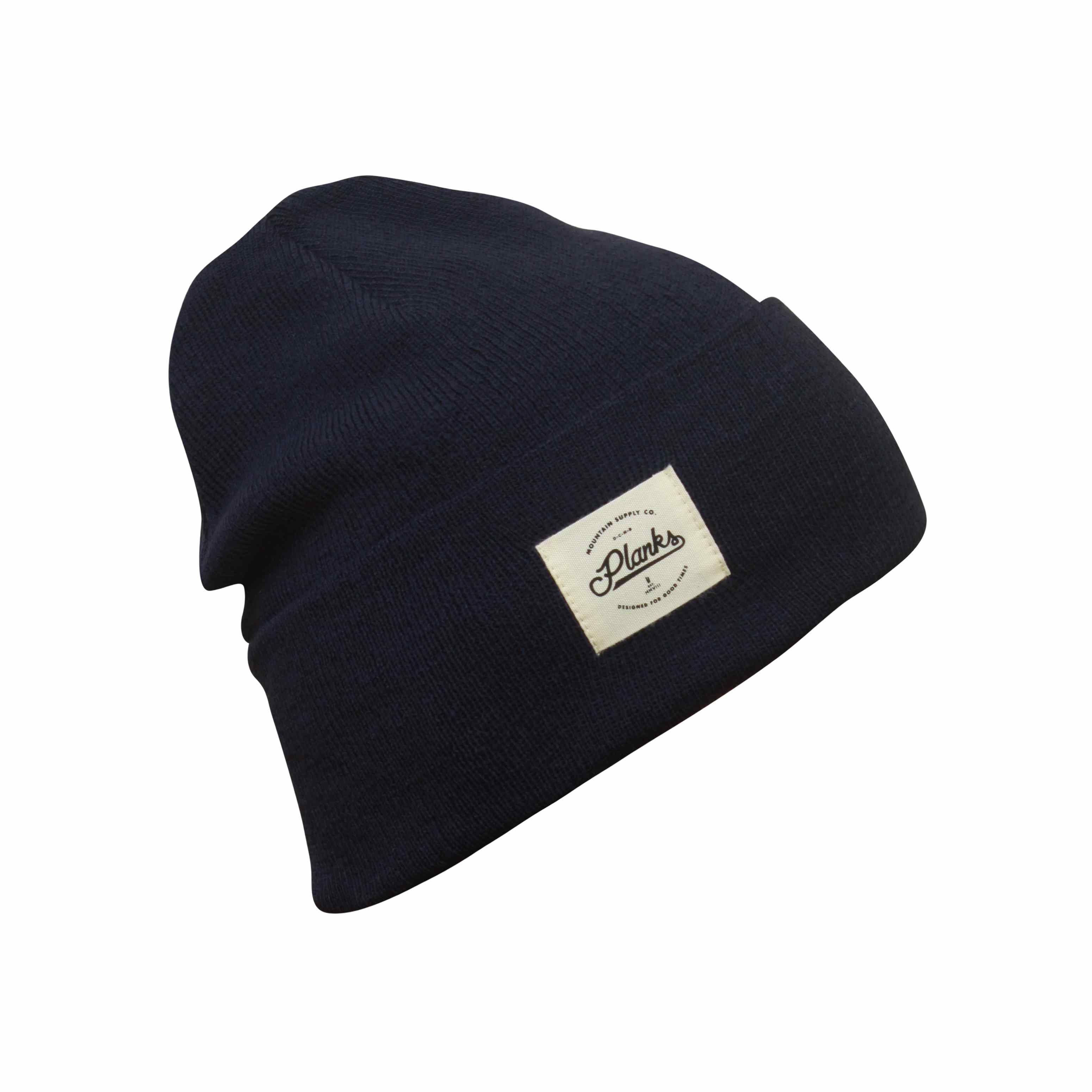 0c4d459443bbef Dark Navy Mountain Supply Co. Long Beanie Planks