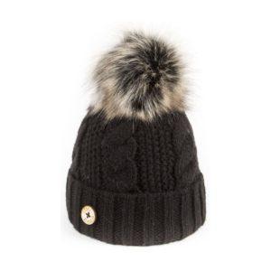 U Capa bonnet pompon fausse fourrure Beauty noir