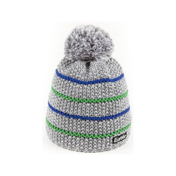 bonnet Eisbar Marus Pompon 30066 gris bleu