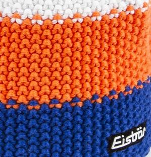 Star Neon Blue Orange Bobble Hat - Eisbar Pompom Beanie f2fce1dfed99
