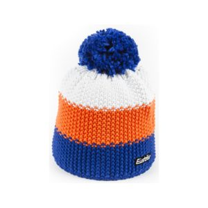 bonnet Eisbar Star Pompon 403125 bleu orange