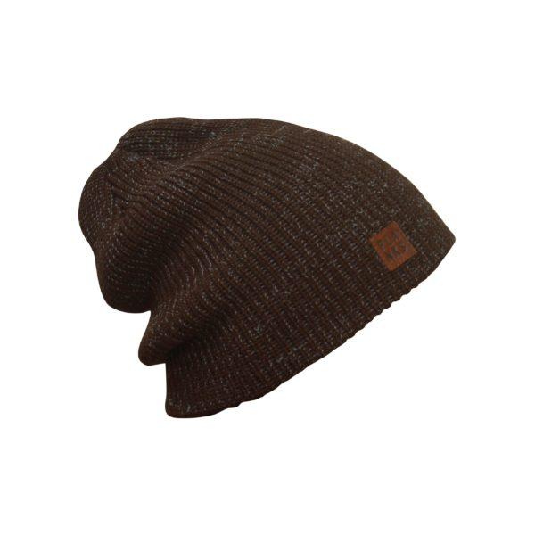 team bonnet marron chiné AH-TEAM805 heather brown hat 2
